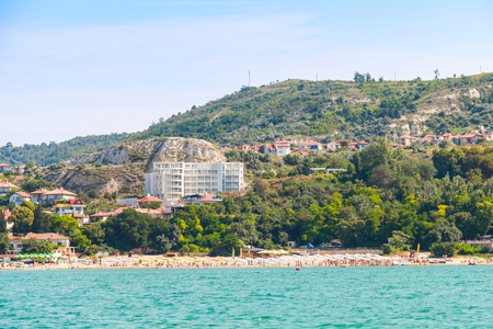 balchik: Summer panoramic landscape of Balchik resort town, coast of the Black Sea, Varna region, Bulgaria