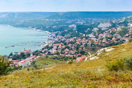 balchik: Balchik resort town cityscape, coast of Black Sea, Bulgaria