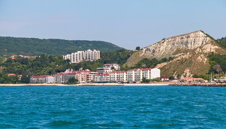 balchik: Summer landscape of Balchik resort town, coast of the Black Sea, Varna region, Bulgaria Stock Photo