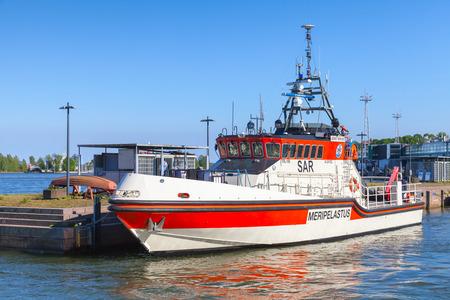 jenny: Helsinki, Finland - June 13, 2015: Rescue boat Jenny Wihuri stands moored in the passenger port of Helsinki Editorial