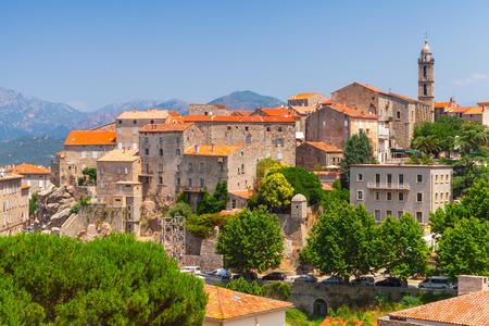 Old town landscape, Sartene, South Corsica, France
