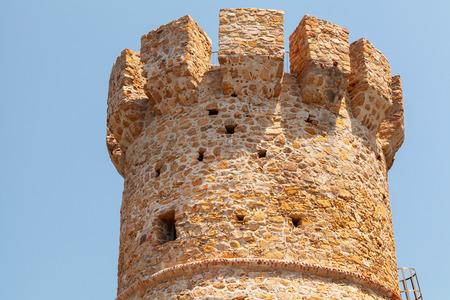 genoese: Campanella tower, old Genoese fort on Corsica island, France Editorial
