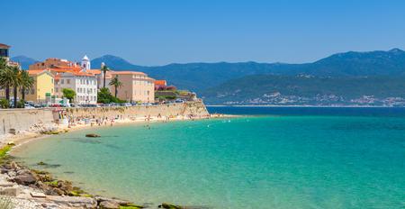 Ajaccio, Korsika, Frankreich. Küstenstadt Panorama