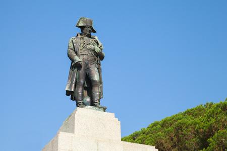 프랑스, 아작시오, 코르시카의 첫 번째 황제 나폴레옹 보나파르트의 동상 에디토리얼
