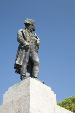 statue: Statue of Napoleon Bonaparte as First imperator of France, Ajaccio, island of Corsica