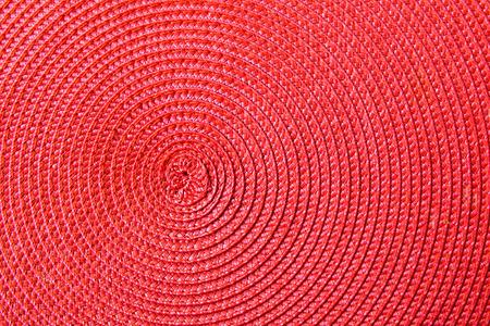 espiral: Textura del fondo de la servilleta de textiles de color rojo con forma de espiral
