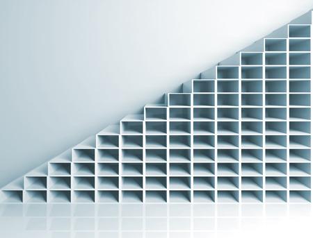 arquitectura abstracta: Fondo abstracto arquitectura, escaleras 3d en la pared Foto de archivo
