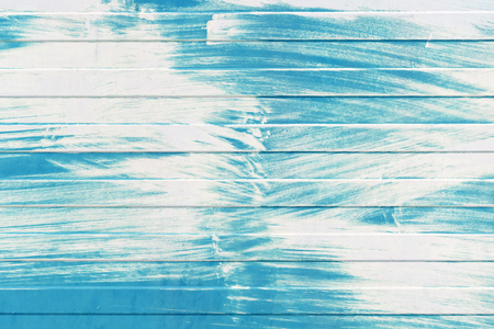 metal wall: Blue ridged metal wall texture with white paint layer Stock Photo