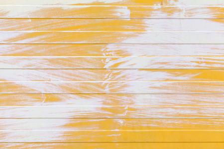 metal wall: Yellow ridged metal wall texture with white paint layer