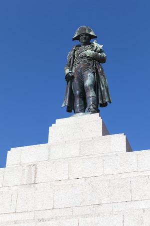 bonaparte: Ajaccio, France - July 7, 2015: Statue of Napoleon Bonaparte as First emperor of France. Ajaccio, island of Corsica Editorial