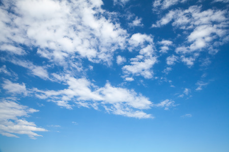 altocumulus: Altocumulus, bright blue sky with middle type of clouds, natural background photo Stock Photo