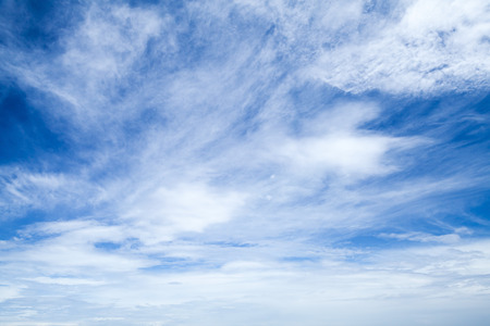 altocumulus: Altostratus and altocumulus. Bright blue sky with different types of clouds, natural background photo