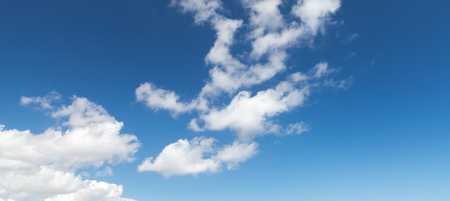 altocumulus: Blue sky with white altocumulus clouds, abstract panoramic nature background photo
