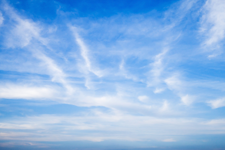altocumulus: Altostratus and altocumulus. Blue sky with different types of clouds, natural background photo