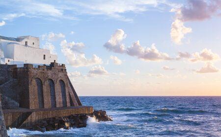 Church of Santa Maria del Soccorso in Forio of Ischia island, Italy Stock Photo