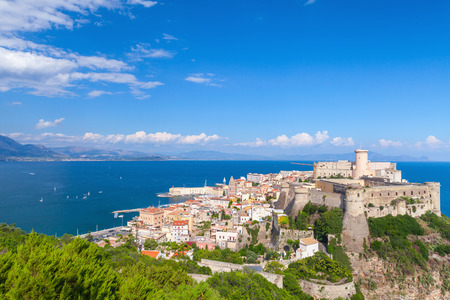 Ancient Aragonese-Angevine Castle in old town of Gaeta, Italy Editorial