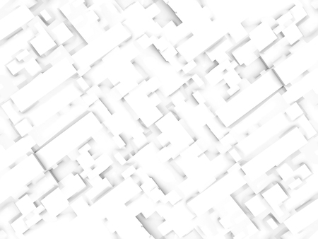 down town: Abstract digital 3d background texture with chaotic squares pattern