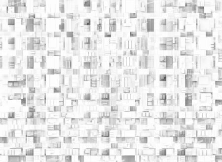 new technology: Abstract geometric technical background texture, chaotic square pattern Stock Photo