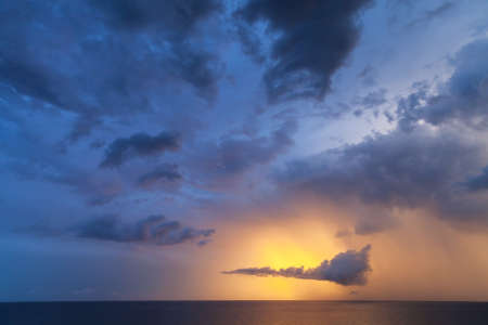 colorful cloudscape: Dramatic colorful cloudscape, morning sky background photo