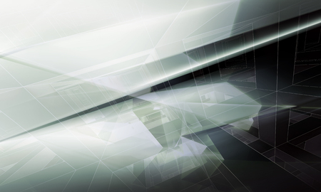 digital abstract: Abstract digital background with polygonal structure and wire-frame lines, 3d illustration