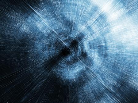 Abstracte digitale wazig tunnel perspectief, 3D-afbeelding achtergrond met draad-kader lijnen Stockfoto