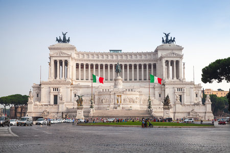 unified: Altare della Patria, National Monument to Victor Emmanuel II the first king of a unified Italy, located in Rome