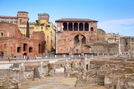 forums: Remains of Imperial forums in Rome.Italy