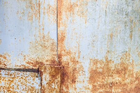 blue grunge background: Old rusted metal wall, grungy background photo texture Stock Photo