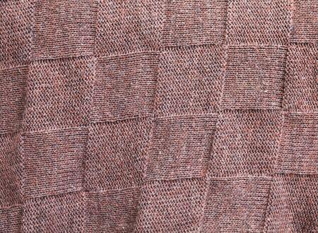 tejido de lana: tejido de lana de color marrón con textura de fondo patrón de cuadrados Foto de archivo