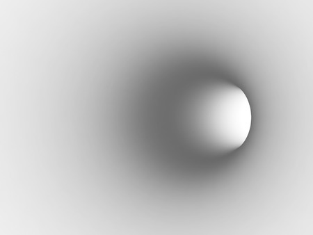 Turning white tunnel interior with soft shaded segment. 3d illustration Stock Photo