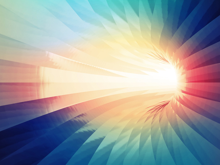 Abstract digital background. Turning tunnel with colorful illumination pattern. 3d illustration