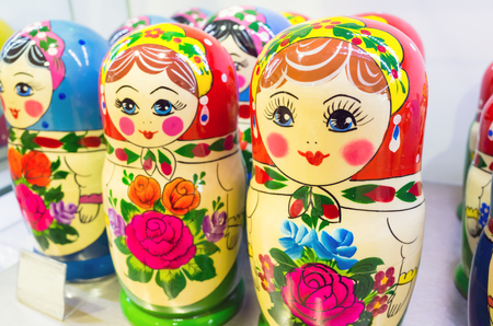 matron: Matryoshka dolls. One of the most popular Russian souvenir Stock Photo