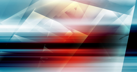red and white: Abstract digital background with colorful polygons pattern, 3d illustration Stock Photo