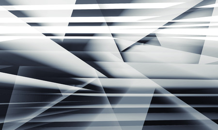 chaotic: Abstract digital background with chaotic multi layered structures, 3d illustration Stock Photo