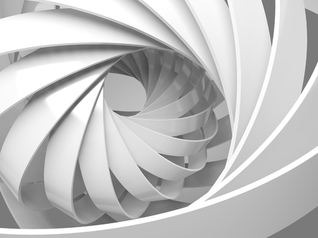 Abstract digital background with round 3d spiral structure 免版税图像