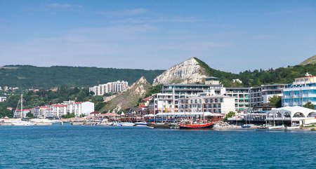 balchik: Balchik, Bulgaria - July 18, 2014: Summer landscape of Balchik town, coast of Black Sea, Varna region, Bulgaria