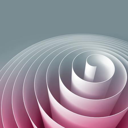 화려한 3D 나선형, 추상적 인 디지털 그림, 배경 무늬