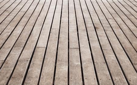 old pier: Old pier perspective, brown wooden floor. Background photo texture Stock Photo