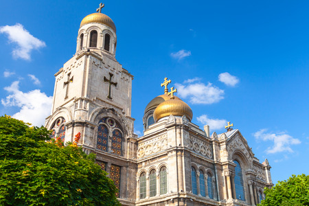 church worship: Main Orthodox Cathedral of Varna city in Bulgaria