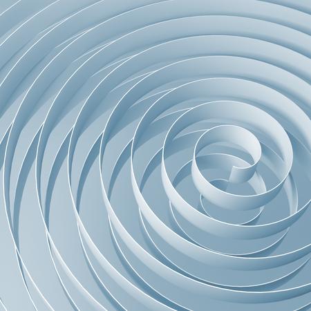 3d spirale z miękkimi jasnoniebieskich cieni, streszczenie ilustracji cyfrowych, kwadrat wzór tła Zdjęcie Seryjne