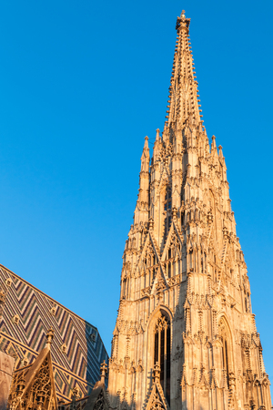 spire: Spire of St. Stephen Cathedral or Stephansdom in Vienna, Austria