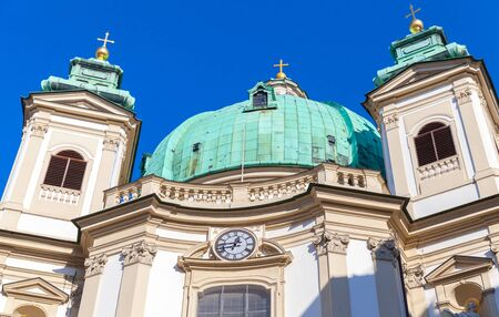 peter's: Domes of Peterskirche or St. Peters Church in Vienna, Austria