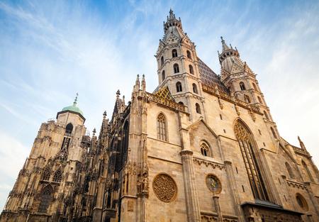 St. Stephen Kathedraal of Stephansdom in Wenen, Oostenrijk Stockfoto