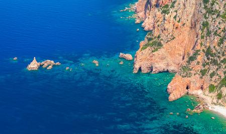 sud: Coastal landscape of Corsica island. Capo Rosso, Piana region