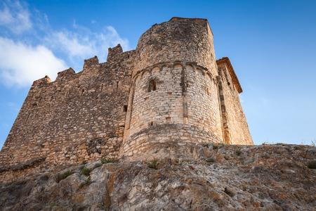 Medieval stone castle on the rock. Main landmark of Calafell, Catalonia region of Spain Stock Photo