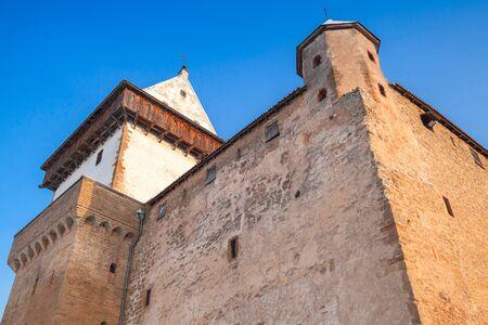 herman: Herman castle closeup facade fragment. Narva. Estonia