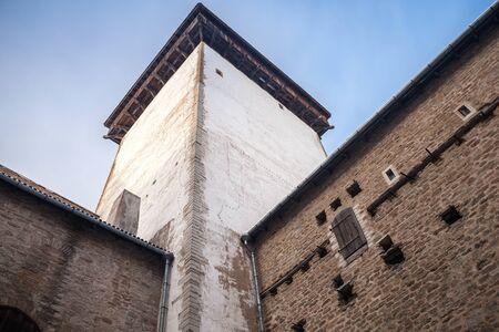 herman: Tower and walls of the Herman castle or Hermanni linnus in Narva. Estonia