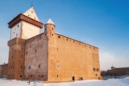 herman: Herman castle or Hermanni linnus in Narva. Estonia. Winter season