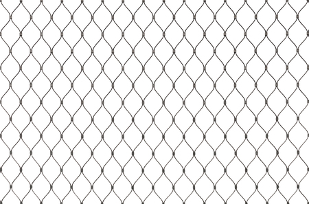 chain link fence: Metal chain link fence background texture isolated on white Stock Photo