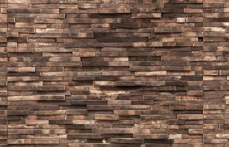 Decoratieve houten wand achtergrond textuur, natuurlijke achtergrond patroon Stockfoto